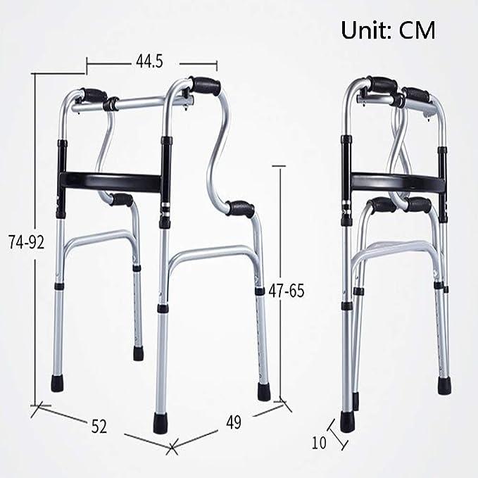 Andador plegable para personas mayores, 8 Lima ajustable en altura ...