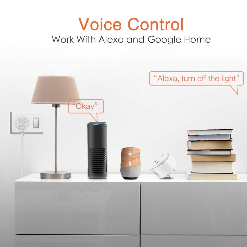 4 Pack Smart WiFi Plug Avatar Controls WiFi Outlet Socket Wireless Compatible with Alexa//Google Home//IFTTT Remote Control Timer Switch Energy Monitoring
