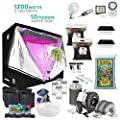 Indoor Plant Growing Solution 1200-watts: Turn-Key Full Instructions - Dual Light Powered Indoor Plant Growing Kit for Extra Control and Ease of Use - Tent/Bulb/Soil+