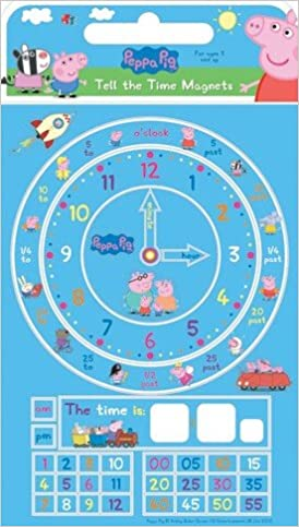 Fridge Magnets 3 Years Peppa Pig Learn to Tell the Time Magnets
