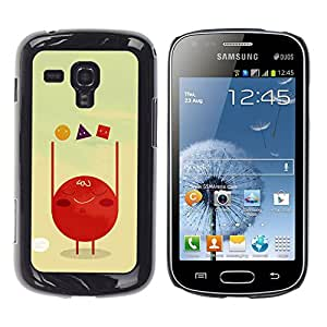 iKiki Tech / Estuche rígido - Polygon Art Red Blood Cell Shapes - Samsung Galaxy S Duos S7562