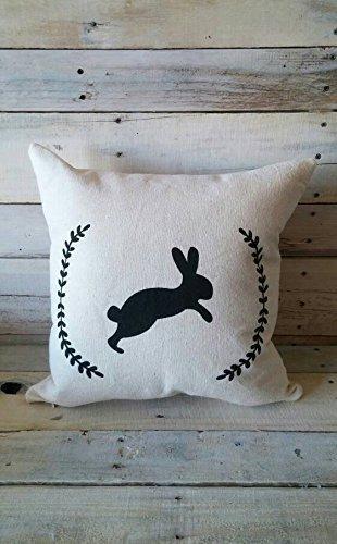 Bunny Pillowcase, Spring Pillowcase, Pillow Cover, 16x16 Throw Pillow Cover, Farmhouse Pillow Cover, Shabby Chic Pillowcase, Easter Pillowcase, Christmas - Glasses For Chubby Frames Faces