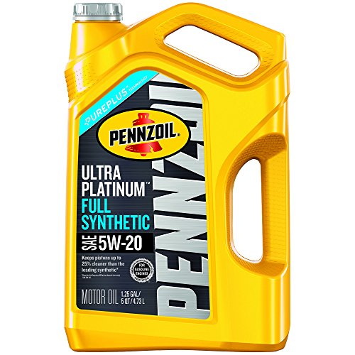 Pennzoil 550038330 Ultra Platinum 5W-20 Full Synthetic Motor Oil- 5 Quart ()