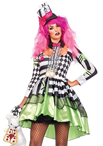 Leg Avenue Women's Deliriously Mad Hatter Costume -
