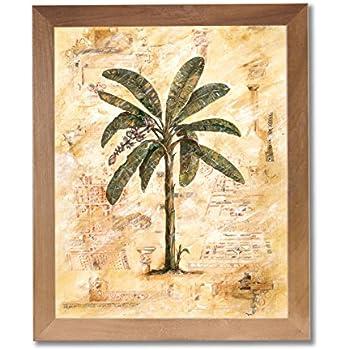 Amazon Com Framed Cherry Tropical Palm Tree Room Decor