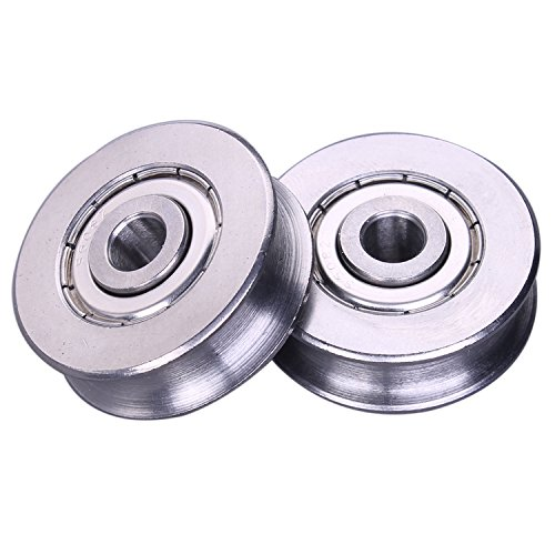 Zip Line Trolley Replacement Stainless Steel Deep V Groove Ball Bearings Pack of 2