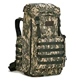 Lamgo Military MOLLE Backpack Rucksack Tactical Gear Adjustable 70-85L Capacity (ACU)