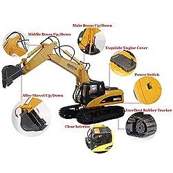 TES TOYS Remote Control Excavator Construction Tra