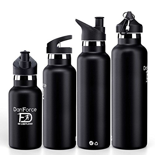 44ff9e9428 12-24 oz stainless Steel Sports Water bottle - Double walled metal Vacuum  Insulated, BPA and toxic Free. Keep 24 Hours Hot , 36 Hours cold, with leak  proof ...
