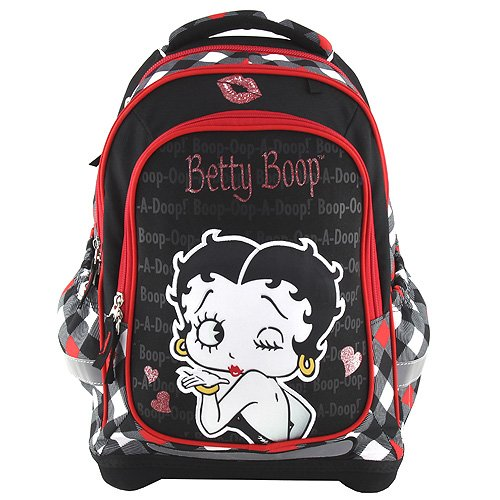 Betty Boop Boop - 17479 Cartable SUPERLIGHT Cartella, 43 cm, 24 liters, Nero (nero rosso)