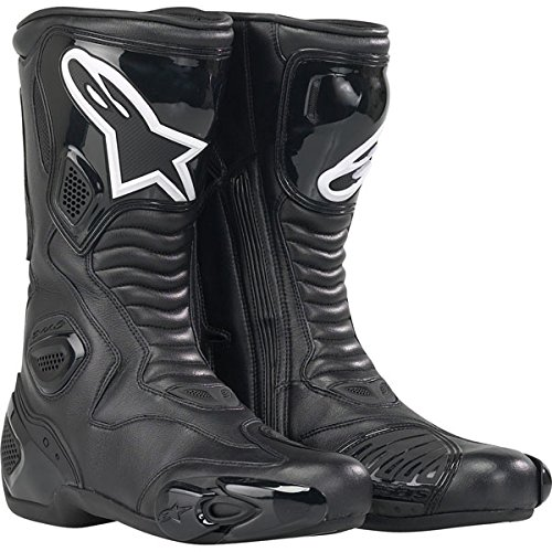 Alpinestars S-MX 5 Boots , Distinct Name: Black, Gender: Mens/Unisex, Size: 7.5, Primary Color: Black 2223091041