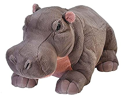 Amazon Com Wild Republic Jumbo Hippo Plush Giant Stuffed Animal