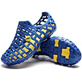 PAIRLERS Men's Beach Sandals Casual Mesh Water Shoes (10.0 D(M) US, Blue)