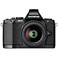 Olympus OM-D E-M5 16MP Live MOS Mirrorless Digital Camera with 3.0-Inch Tilting OLED Touchscreen and 12-50mm Lens (Black) (Discontinued by Manufacturer)