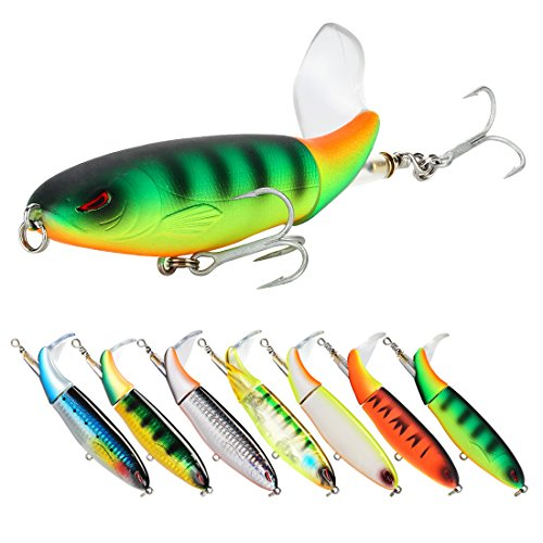 SeaKnight Topwater Fishing Lure Whopper Plopper 3.54in/4.33in/5.11in Floating Rotating Tail Bait Freshwater Saltwater Bass Lures