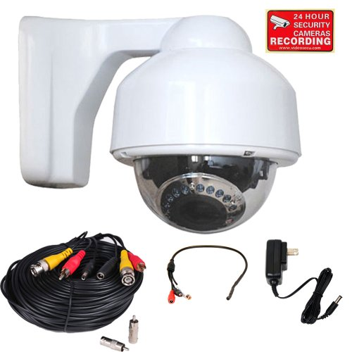VideoSecu 700 TVL Dome Security Cameras Built-in 1 3 SONY Effio CCD Day Night Vision IR Infrared CCTV 3.5-8mm Zoom Lens for CCTV Home Surveillance DVR System with Power Cable and Power Supply CNM