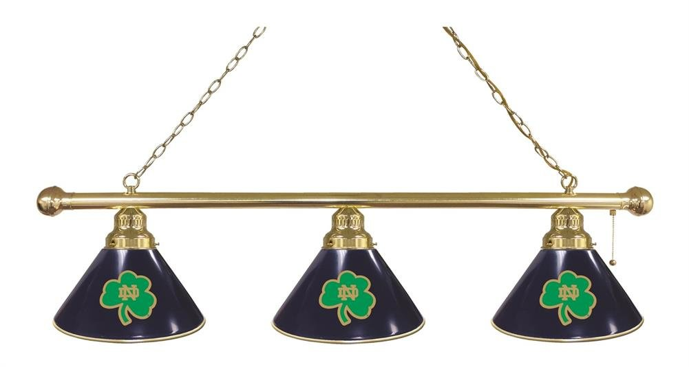 Holland Bar Stool Co. Notre Dame (Shamrock) 3 Shade Billiard Light