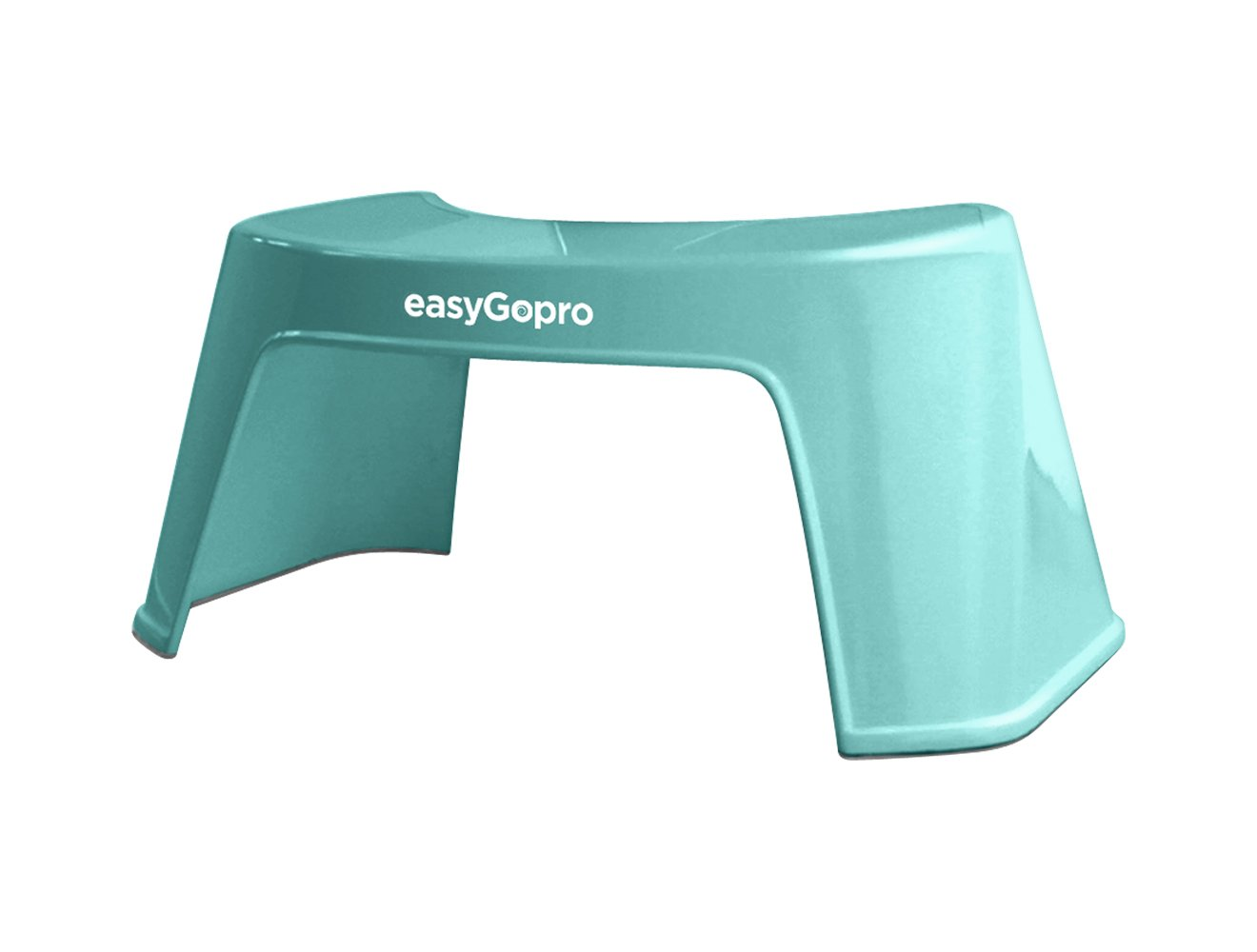 easyGopro 7.5 Most Compact Ergonomic Toilet Step for Easier Bowel Movements Gastroenterologist Recommended for All Ages - One Size Fits All - Blue M0005-EGP1B