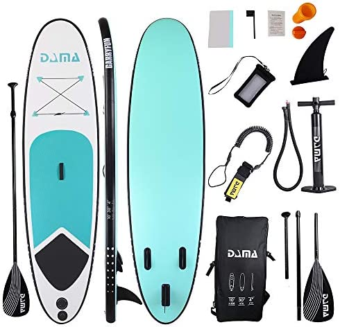 DAMA Inflatable Stand up Paddle sup Board Board,isup Board,Kids Board,fin,Carry Bag,Paddle,Hand Pump,Leash,Repairing kit,mobilephone Waterproof Bag,All Round Board,for Beginners Youth and Adult