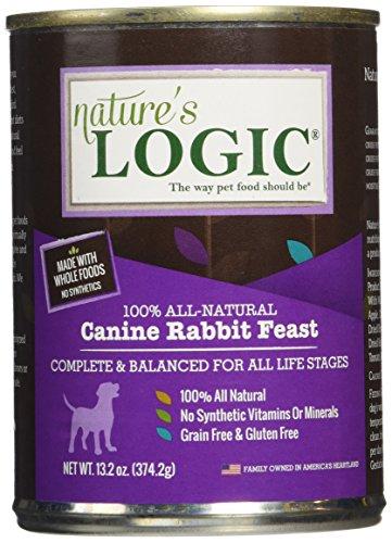 NATURE'S LOGIC Rabbit Canned Dog Food, 12-13.2 oz. For Sale