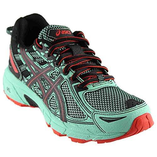 ASICS Women's Gel-Venture 6 Running-Shoes,Ice Green/Black/Cherry Tomato,10.5 Medium US