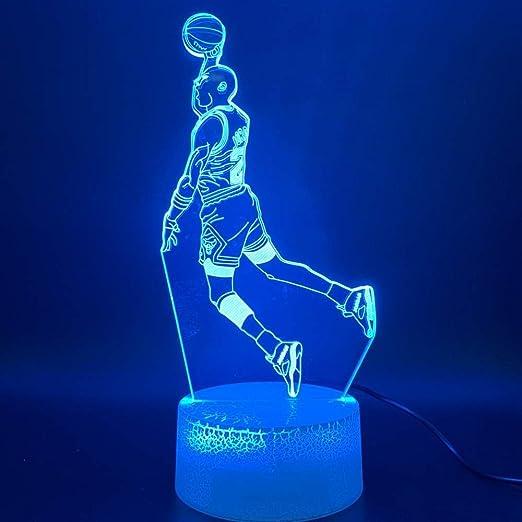 Michael Jordan Dunk - Lámpara de ilusión óptica 3D, diseño de ...