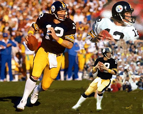 11 x 14 Inch Puzzle Football Legend Terry Bradshaw Oil Painting