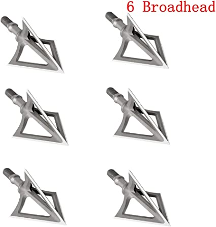12 Pcs 100 Grain Bowhunting Broadheads 3 Blades Broadheads Stainless Steel Arrow Tips 1 Cutting Diameter Points for Small Game