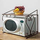 Corner Kitchen Cabinet Ideas AISHN Metal Microwave oven Rack /shelf Kitchen Shelves Counter and Cabinet Shelf (Bronze)