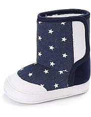 Greceen Infant Baby Boys Girls Boots Premium Soft Sole Anti-Slip Warm Winter Snow Boots Newborn Crib Shoes