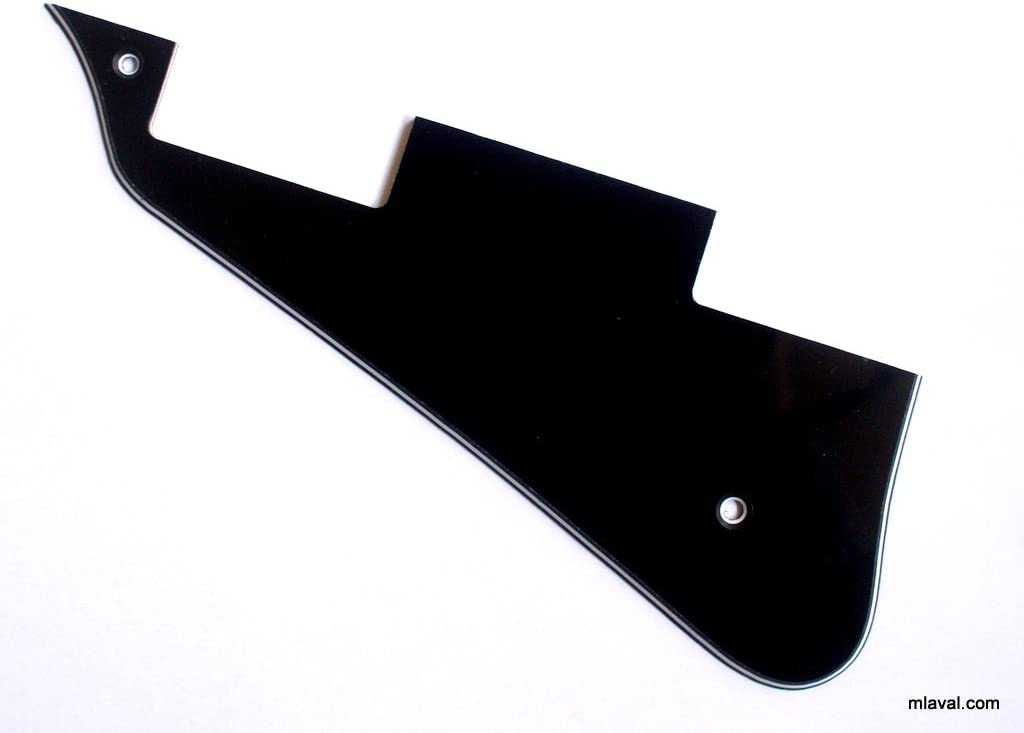 3 Ply LP Les paul Style Left-Handed Universal Guitar Pickguard BLACK C11
