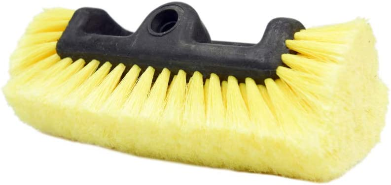 """CARCAREZ 10"""" Car Wash Brush with Soft Bristle for Auto RV Truck Boat Camper Exterior Washing Cleaning, Yellow"""
