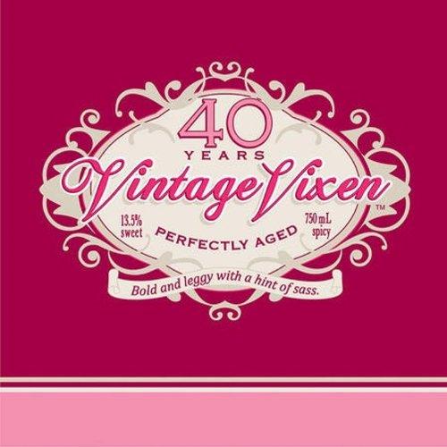 Creative Converting 16 Count Vintage Vixen 40th Birthday Beverage Napkins - 40th Cocktail Napkins