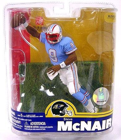 (Steve McNair #9 Houston Oilers Blue Jersey Variant Chase Alternate Action Figure McFarlane NFL Series 16 by McFarlane Toys)