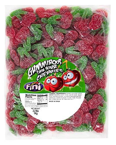 Gummi Twin Cherries - Sour Twin Cherries Gummy Candy 2.2 Pound
