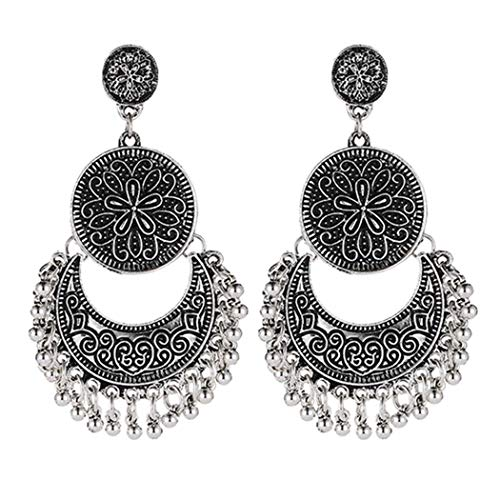 DREZZED Women Fashion Boho Style Moon Star Beads Drop Earrings Jewelry Gift Drop & Dangle from DREZZED