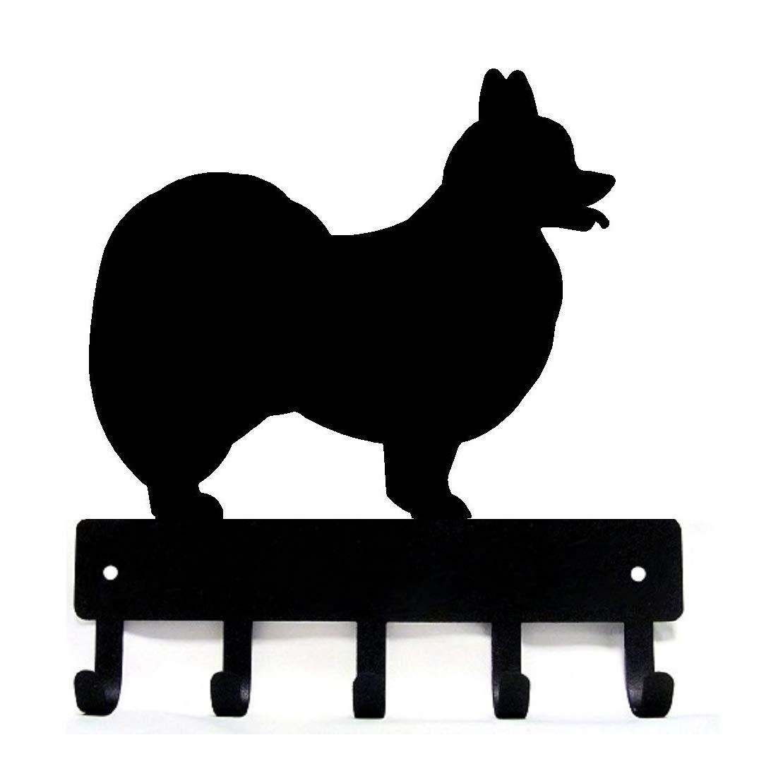 The Metal Peddler Papillon Dog Small 6 inch Wide Key Hooks /& Holder