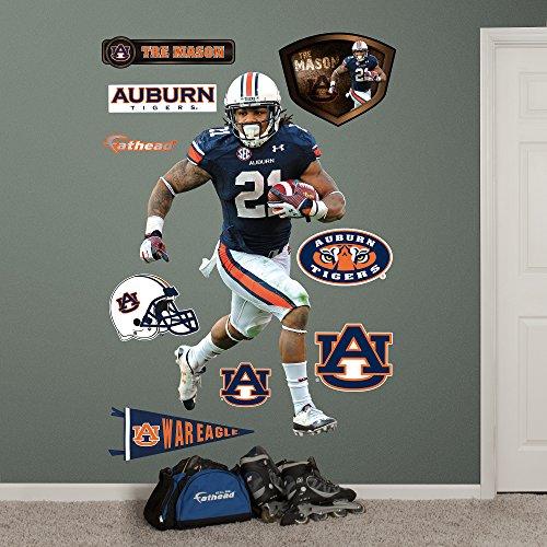 NCAA Auburn Tigers Tre Mason Fathead Wall Decal, Real Big