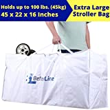 Extra-Large Stroller Travel Bag - Premium-Quality Heavy-Duty Ultralight Waterproof & Dust-resistant Flight Gear -For Storage & Gate Check -Fits All Sizes - Umbrella - Blanket - More