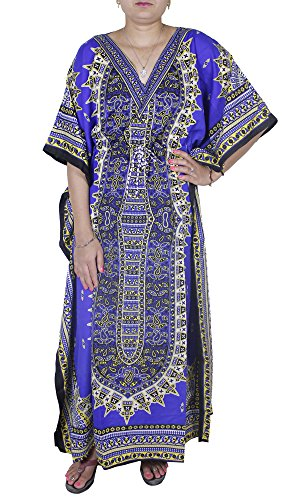 Womens Swimwear Beachwear Bikini Beach Wear Cover up Kaftan Multicolor Free (Arab Woman Outfit)