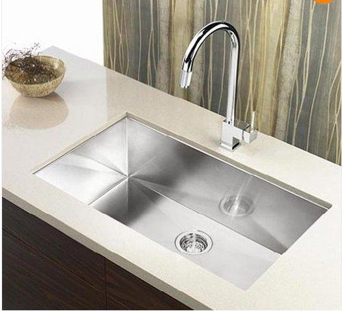 23 single bowl undermount stainless steel kitchen sink with strainer amazoncom - Undermount Stainless Steel Kitchen Sink