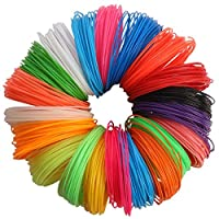 3D Pen Filament Refills - 10pc Different Colors 1.75mm (PLA Material) 21 Feet Per Colour, 2 Glow In The Dark Colors