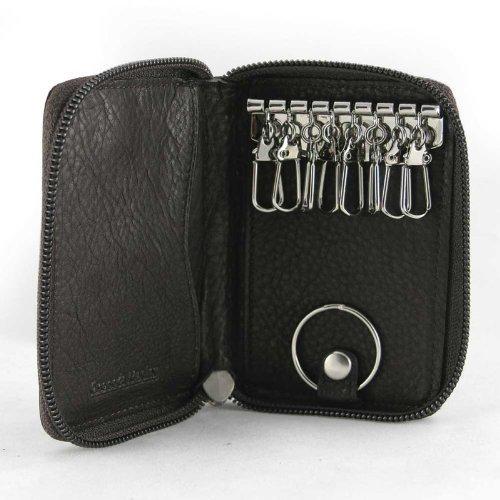 Osgoode Marley Eight Hook Zip Key Case with Valet,One Size,Brandy - Brandy Case