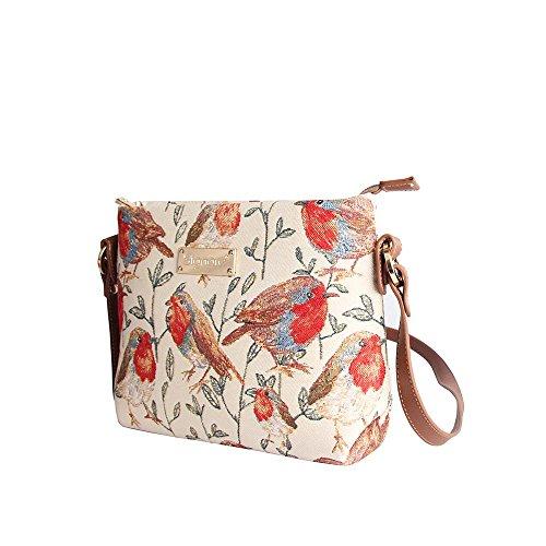 Handbag Robin Womens Bag Body Tapestry Signare Animal Fashion Shoulder Across Messenger wRIOxSvAq