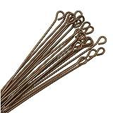 (20) Vintaj Natural Brass 1.5 Inch Eye Pin 21 gauge 35033