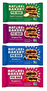 Nature's Bakery Stone Ground Whole Wheat Fig Bar Variety Pack Sampler, All Natural NON GMO Snack Food (48 Count)