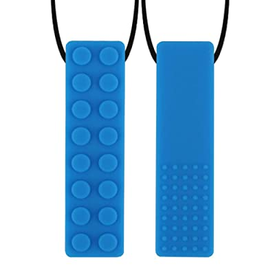 NA Upgrading Sensory Chew Necklace, Soft Silicone Chewy Sticks for Kids with ADHD, Teething, Autism, Biting Needs: Toys & Games