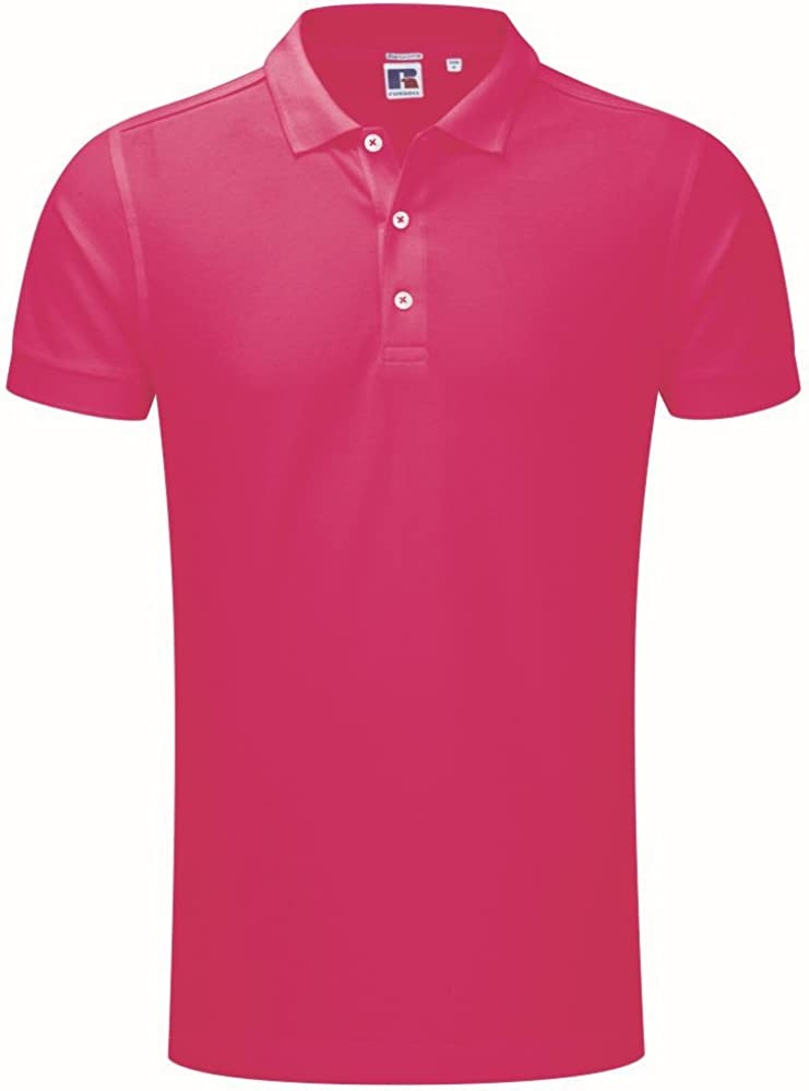 Russell - Polo elástico (talla L), color fucsia: Amazon.es: Ropa y ...