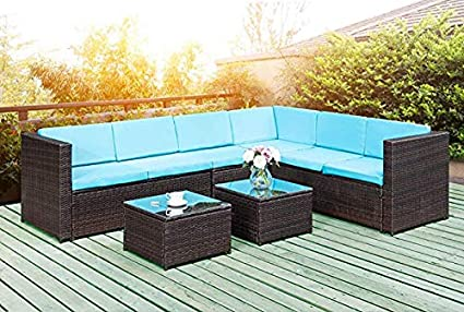 Amazon.com : Vineego 5-Piece Outside Patio Furniture Brown ...