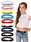 9 Pieces Kids Adjustable Elastic Belt Kids Toddler Belts Pin Buckle Belts for Girls Kids (Color Set 1)